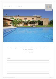 Finca in Cas Concos - Ref. 01-59 - Luxury Holidayhomes on Mallorca