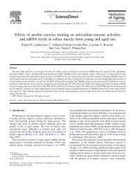 Effects of aerobic exercise training on antioxidant ... - ICB - USP