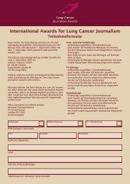 International Awards for Lung Cancer Journalism