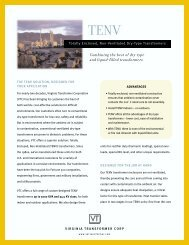 TENV Sales Sheet - Virginia Transformer Corp