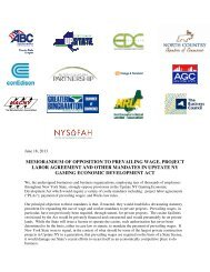 Business Coalition Memo in Opposition to PLA and Prevailing Wage ...