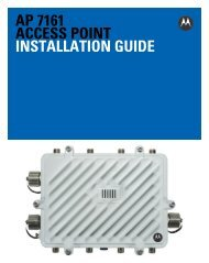 Motorola Solutions AP7161 Access Point Installation Guide