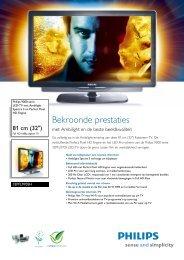 32PFL9705H 12 Philips LED-TV met Ambilight Spectra 3