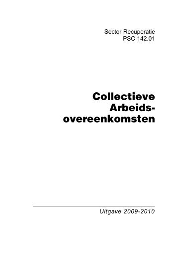 Nationale overeenkomsten 2009-2010 paritair comité 142.01 ... - Aclvb