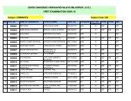 VRET EXAM1 - Guru Ghasidas University