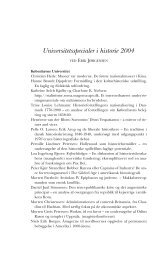 Universitetsspecialer i historie 2004 - Historisk Tidsskrift