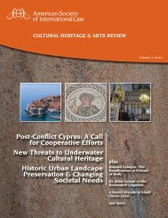 Cultural Heritage & Arts Review - American Society of International ...