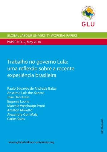uma reflexão sobre a recente experiência brasileira - The Global ...