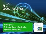 zEnterprise: A Revolutionary Design for Hybrid IT Computing - CA