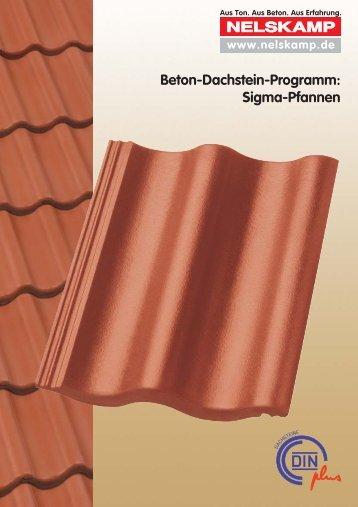 Beton-Dachstein-Programm: Sigma-Pfannen