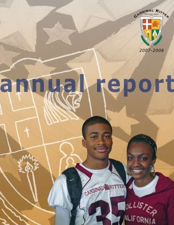 2007-2008 Annual Report - Cardinal Ritter College Preparatory ...