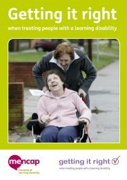 Getting it right when treating people with a learning disability