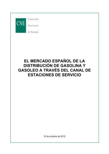 el mercado español de la distribución de gasolina y gasoleo a ...