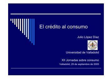 El crédito al consumo - Universidad de Valladolid