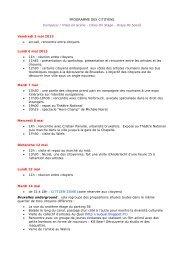 PROGRAMME DES CITOYENS Europe(s) / Villes ... - Théâtre National
