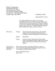 February Minutes - Board of Education Meetings - St. Lawrence ...