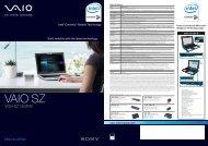 VGN-SZ13GP/B - Sony Style