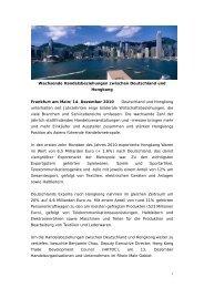 Handelsbeziehungen zwischen Deutschland und Hongkong ...