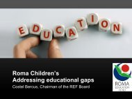 Roma Children's Addressing educational gaps