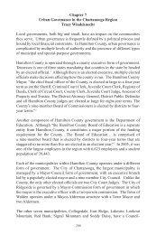 Urban Governance - Ochs Center for Metropolitan Studies