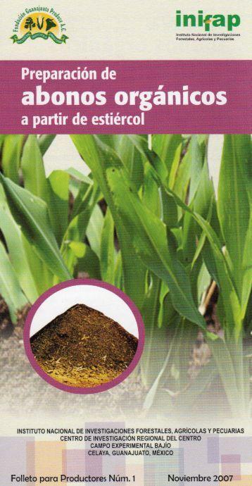 abonos organicos - Instituto Nacional de Investigaciones Forestales ...