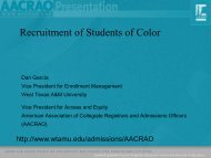 Review of Best Practices in Minority Student Recruitment ... - AACRAO
