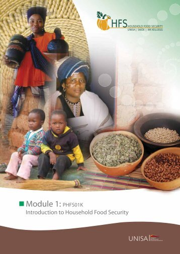 Module One: Introduction to Food Security Concepts. Study Guide