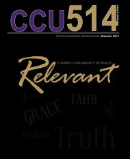 For The Cincinnati Christian University Community | Summer 2011