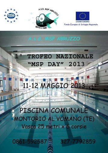 """1° TROFEO NAZIONALE """"MSP DAY"""" 2013 - Confsport Italia"""