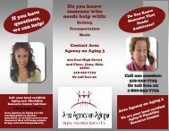Aging and Disability Resource Center Brochure - Area Agency on ...