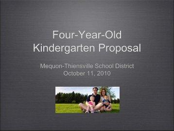 Four-Year-Old Kindergarten Proposal - Mequon-Thiensville School ...