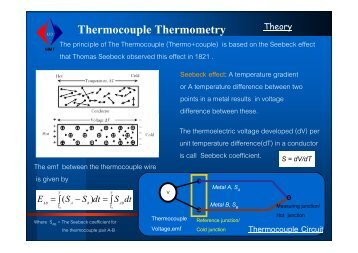 Thermocouple Circuit Thermocouple Thermometry