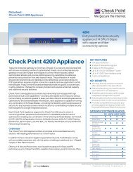 Check Point 4200 Appliance