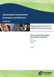 Government Information Licensing Framework - Queensland ...