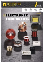 electronic components - audio alchemy