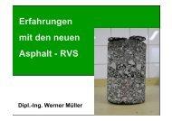 Erfahrungen mit den neuen Asphalt - RVS - Gestrata