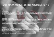 Der RAW-Modus an der Olympus E-10