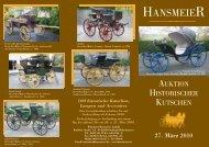 100 historische Kutschen, Lampen und Accesoires
