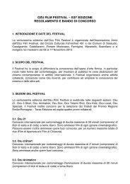 xxiª edizione regolamento e bando di concorso - Ozu Film Festival