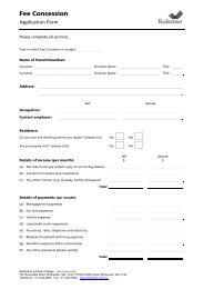 Download Fee Concession Application Form - Redeemer Lutheran ...