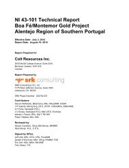 NI 43-101 Technical Report Boa Fé/Montemor ... - Colt Resources