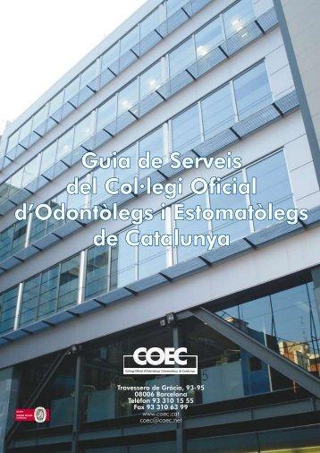 Guia de Serveis del Col·legi Oficial d'Odontòlegs i Estomatòlegs de ...