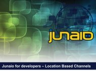 Junaio for developers – Location Based Channels