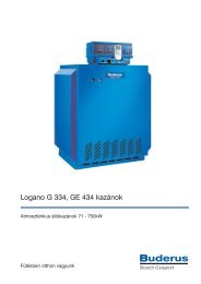 Logano G 334, GE 434 kazánok - Buderus Hungária Fűtéstechnika Kft.
