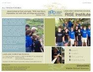 RISE Institute Brochure - Lakeland Christian School