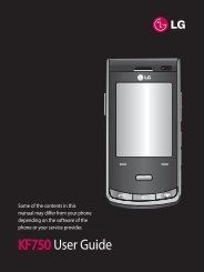 KF750 User Guide - LG India - LG Electronics
