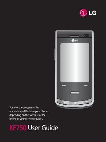 KF750 User Guide - LG India - LG Electronics