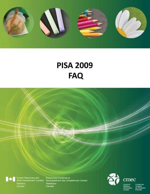PISA 2009 FAQ