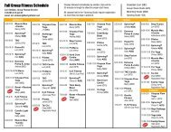 Group Fitness Schedule - Liberty Athletic Club