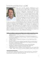 Curriculum Vitae en publicatielijst